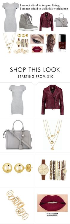 """""""I am not afraid"""" by rhiannons ❤ liked on Polyvore featuring Boohoo, Haute Hippie, Alexander McQueen, Talbots, BERRICLE, Jessica Carlyle, BP., Mehron, Smashbox and Chanel"""