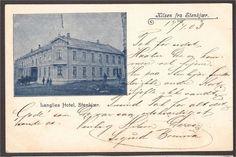 Nord-Trøndelag fylke Steinkjer kommune Stenkjær. Hilsen fra. Langlies Hotel. U.utg. Stemplet 1903. Vintage World Maps, Art, Art Background, Kunst, Art Education