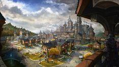 Environment Concept, Environment Design, Fantasy City, Fantasy World, Fantasy Images, Fantasy Artwork, Steampunk City, Elder Scrolls Online, Fantasy Setting