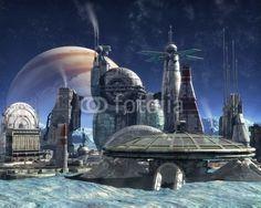 Jupiter moon colony © Luca Oleastri - www.innovari.it