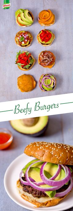 """What's for dinner? Follow Knorr's easy Beefy Burgers recipe for a simply tasty supper treat. Meaty, mouthwatering, tender, ground hamburger beef goodness will make your family say """"Yum."""""""