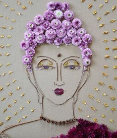Delicate Portraits entirely made of Plants and Flowers – Fubiz Media