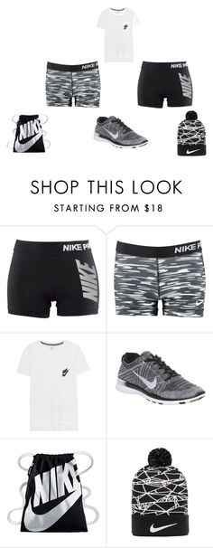 """""""nikee ayee"""" by kaniyaharris112 ❤ liked on Polyvore featuring NIKE"""