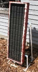 Solar heater big enough to heat a garage.this site tells you how to do it with soda cans . heat a greenhouse or coop too! Cool idea to share about solar energy