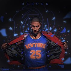 Derrick Rose NYC Reborn Illustration