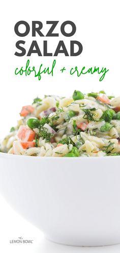 How To Cook Orzo, Orzo Salad Recipes, Cucumber Yogurt, Lemon Bowl, Dips, Veggie Wraps, Israeli Food, Mediterranean Dishes, Grilled Asparagus