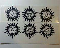 6x Supernatural Temporary Tattoos