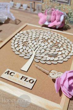 Notre mariage: un arbre en bois à signature (alternative à l'arbre à empreintes) - Happy Chantilly