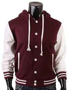 BCPOLO Men's Letterman Hoodie Baseball Jacket Sweatshirt warm hoodie Jacket-brown XS BCPOLO http://www.amazon.com/dp/B00ROZ84K2/ref=cm_sw_r_pi_dp_-ky7ub1RDTKMQ