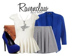 Ravenclaw - Harry Potter by nerd-ville on Polyvore featuring polyvore, fashion, style, ALDO, Carolina Glamour Collection and harrypotter