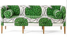 Marimekko upholstery on Anthropologie's Ditte Sofa