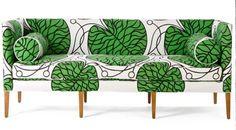 Marimekko upholstery on Anthropologie's Ditte Sofa