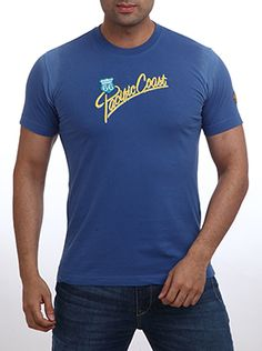 If round necks are your choice then select this Parx Jeans Men Blue T-Shirt. This 100% cotton T-shirt comes in a medium blue color. This Slim Fit T-shirt fits snugly and helps you show off those muscles which you discreetly wanted your friends to check out. This casual T-shirt will go very well with dark as well as light blue denims. So what are you waiting for? Add this T-shirt to your collection and you�ll never regret.