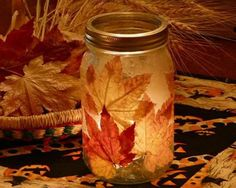 DIY+Fall+Leaf+Candle+Holder