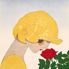 Le parfum de la rose (detail) by Gazette du Bon Ton - art print from King & McGaw