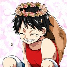 Tags Anime One Piece Monkey D Luffy Straw Hat Flower