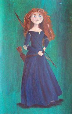 Princess Merida Art   princess merida by billywallwork525 traditional art paintings fantasy ...