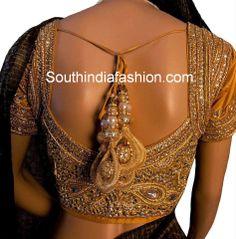 Heavy Kundan Work Bridal Saree Blouse