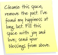 Post-It Note Tuesday: Cleanse a Space | Mom's a Witch ~ very simple for clearing home energies as needed,