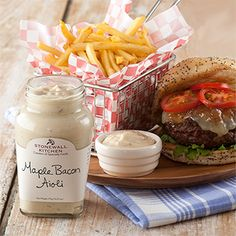 Mouthwatering Maple Bacon Aioli from Stonewall Kitchen in York, Maine: http://visitingnewengland.com/maple-bacon-aioli-stonewall-kitchen.html #maplebaconaioli #stonewallkitchen
