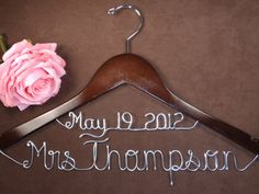 Wedding Dress personalized hanger with date