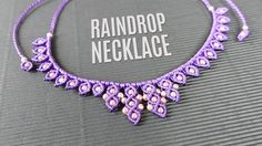 Raindrop or Teardrop Macramé Necklace with beads (Teaser). How to make this necklace you can see here: http://youtu.be/TfV-fxKK8qk This necklace is not hard ...