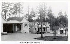 Municipal Auto Camp, Cranbrook, BC, circa 1935. This is the RV area of Baker Park today.