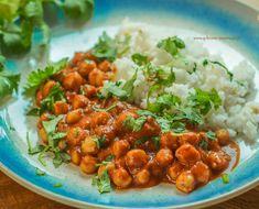 Wegańskie curry z ryżem a'la methi pulao Chana Masala, Curry, Ethnic Recipes, Food, Curries, Essen, Meals, Yemek, Eten