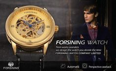 Import China Good Skeleton Automatic Mechanical Watches With Leather Material mens watches-Forsining Watch Company Limited www.forsining.com