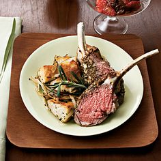 Herb-Crusted Rack of Lamb With Rosemary Potatoes Recipe - Health.com