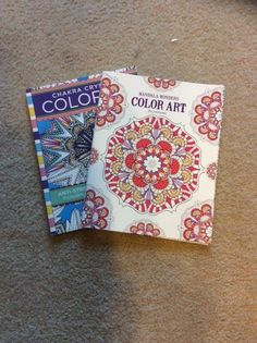 She rips out the pages of her adult coloring book and a few steps later...copying SO gorgeous!