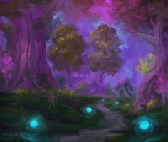 The Horde may have eversong woods but they aren't the only ones with a majestic starting zone // artist unknown #worldofwarcraft #blizzard #Hearthstone #wow #Warcraft #BlizzardCS #gaming