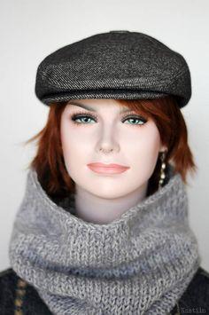 8a79c84326f Gray newsboy hat Womens newsboy cap Mens newsboy hat Flat hat Flat cap  Driving hat Driving cap Scall