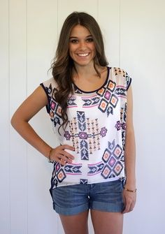 Soca Clothing - Aztec Print Top with Open Back, $40.00 (http://www.shopsocaclothing.com/aztec-print-top-with-open-back/)