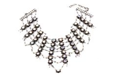 Vintage Bead & Crystal Collar Style Necklace