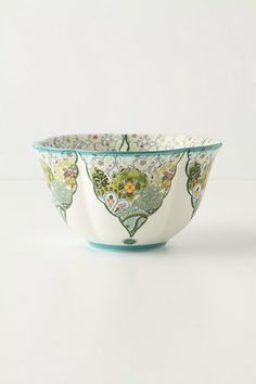 Flourishing Valleys bowl in mint... looks so exotic and refreshing. From Anthropologie