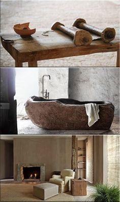 wabi sabi dekorációk Wabi Sabi, Double Vanity, Studio, Bathroom, Modern, Decor, Washroom, Trendy Tree, Decoration