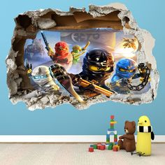 LEGO NINJAGO ANY Name Disney Style Boys Girls with Stars WALL STICKER transfer 2