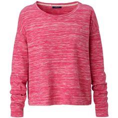 CONLEYS BLUE Sweatshirt ($44) ❤ liked on Polyvore featuring tops, hoodies, sweatshirts, sweaters, shirts, blusas, sweatshirt, pink, pink shirt and shirts & tops