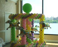 Carousel  balloon sculpture  www.elegant-balloons.com