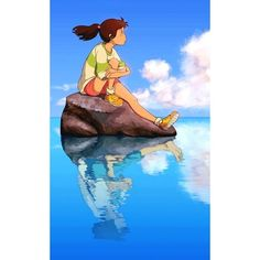 Image in Anime (^_^) collection by Miss__Flower - image discovered by Miss__Flower. Discover (and save!) Your images and videos on We Heart It Art Studio Ghibli, Studio Ghibli Films, Studio Ghibli Quotes, Totoro, Animation, Chihiro Y Haku, Japon Illustration, Image Manga, Fanarts Anime