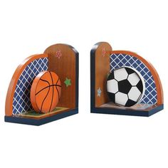 Found it at Wayfair - Fantasy Fields Lil' Sports Fan Book Ends (Set of 2)http://www.wayfair.com/Fantasy-Fields-Lil-Sports-Fan-Book-Ends-TD-0034A-TMD1380.html?refid=SBP