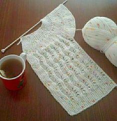 28 Ideas Pasta Modelleri Mor For 2019 Baby Knitting Patterns, Baby Afghan Patterns, Knitting Kits, Baby Afghans, Knitting For Kids, Easy Knitting, Happy Week End, Knitted Baby Cardigan, Diy Crochet