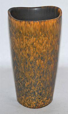 Rorstrand Pottery Three Sided Vase (Nylund) from Just Art Pottery