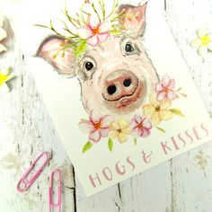 vintage pig postcard, Man trying to catch a pig Humorous Spanish postcard, artist signed Alti and the pig was mad because the man was holding his tail has not been mailed has been written on 33 vintage postcard, paper ephemera Pig Puns, Thank You Poster, Funny Pigs, Watercolor Animals, Watercolour Painting, Cute Piggies, Scottish Gifts, Retro, Floral