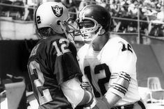 #12 Ken Stabler - Oakland Raiders.  Terry Bradshaw with The Pittsburgh Steelers