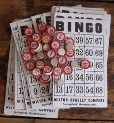 bingo with wooden call numbers