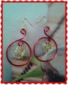 1 paires de boucles d'oreille fil aluminium : Boucles d'oreille par choukydeco40
