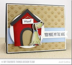 You Make My Tail Wag, Paw Print Background, Dog House Die-namics, Stitched Circle STAX Die-namics - Jodi Collins  #mftstamps