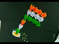DIY Tricolor Flag of India for childrens Independence Day Drawing, Independence Day Activities, Independence Day Flag, Independence Day Decoration, Paper Folding Crafts, Paper Flowers Craft, Easy Paper Crafts, Diy Crafts For Gifts, Manualidades